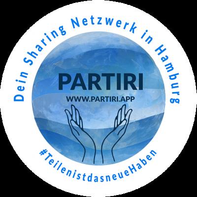 Sticker mit Partiri Logo